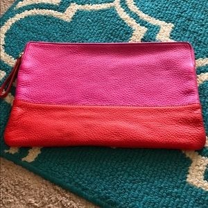 NWOT leather clutch